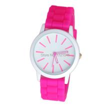 Nueva venta caliente de moda de ginebra calidad de colores deportes marca reloj silicona jalea reloj de cuarzo Wristwatche para para SB018P