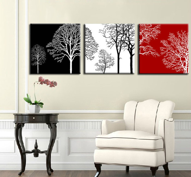 40*40cmx3P Three Colors Painting Art ,100% Handmade Modern Canvas Oil Painting Wall Art Home Decoration Gift  For House Z084