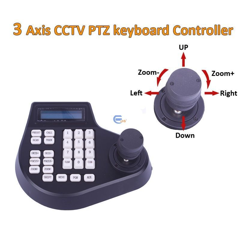 New 3D PTZ keyboard joystick controller with LCD Monitor for ptz camera EDS-3DK02 FREE SHIPPING(China (Mainland))