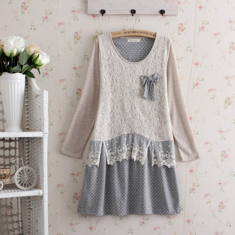 femme mujer brandy melville jurk kawaii gothic knitted cute renda vestido casual print maxi tunique femme cotton crochet dress