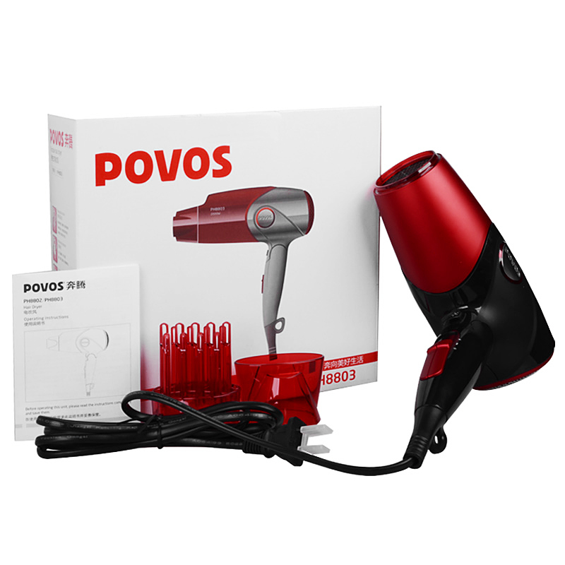 Фотография PH8803 3-Mode Ionic 2000W Professional Hair Dryer for salon Hair Blower with Hang-up Hook Hairdryer