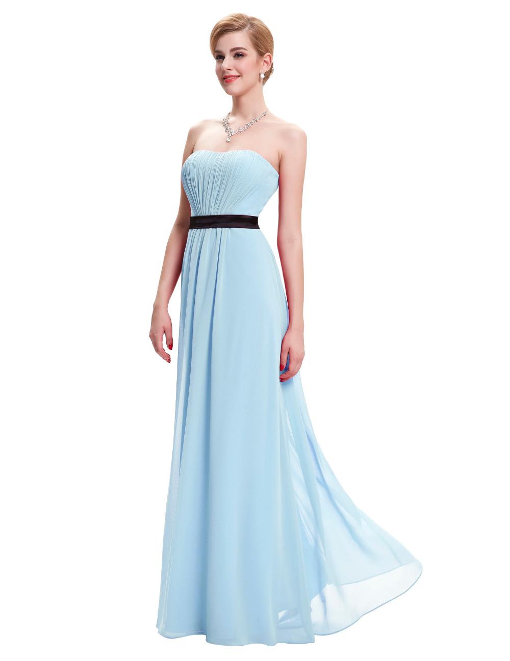 Sexy strapless long chiffon women formal evening dresses for Evening dresses for weddings