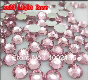 SS20 5mm 10000pcs/pack Flat back Acrylic Rhinestones Light Rose Color Nail Art - Rhinestone houses store
