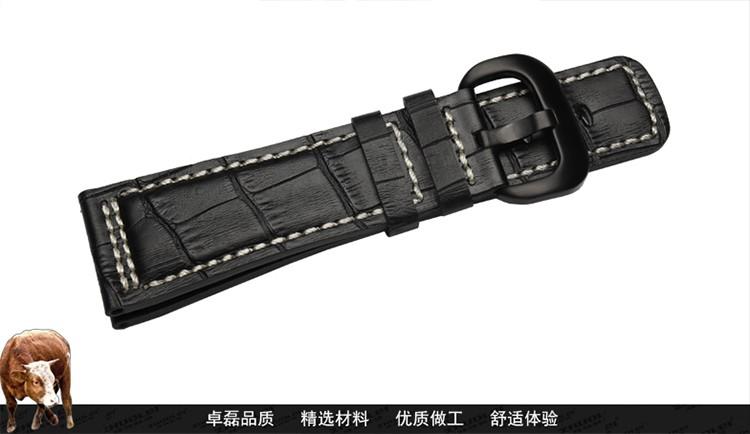 28 мм новый высокое качество черный из натуральной кожи ремешки ремешок черный матовый сталь Depolyment застежка для SevenFriday P1P2P3M1M2