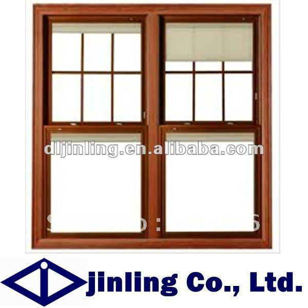 Buy grill design wood window sliding for New window company