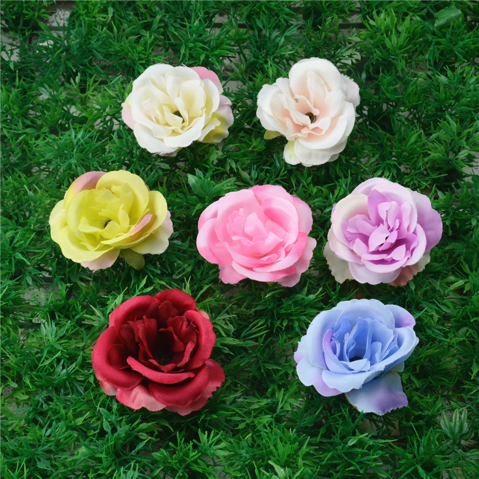 10pcs spring silk blooming rose artificial flower head for wedding 10pcs spring silk blooming rose artificial flower head for wedding home decoration camellia mariage flores rosa mightylinksfo