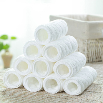 Hot Sale 10PCS/Lot Reusable Baby Cloth Diaper Nappy Liner insert 3 Layers 100% Cotton Washable Baby Care Products FCI#