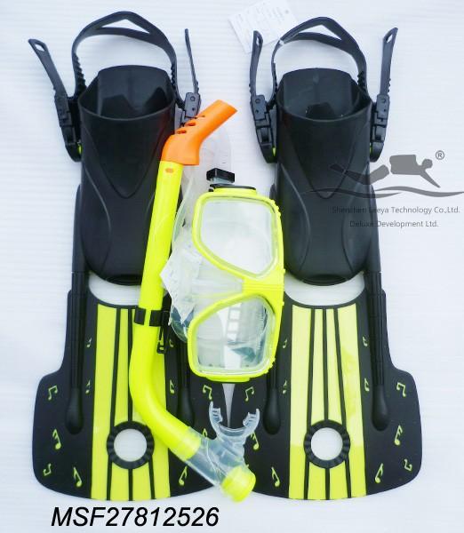 Фотография hot sale dive equipment double lens Diving Mask+Snorkel +junior Flippers MSF27812526