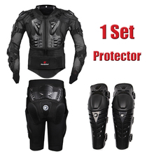 2016 New Motorcross Racing Motorcycle Body Armor Protective Jacket+ Gears Short Pants+protective Motocycle Knee Pad
