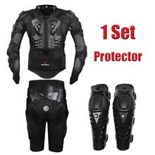 2016 New Motorcross Racing Motorcycle Body Armor Protective Jacket+ Gears Short Pants+protective Motocycle Knee Pad