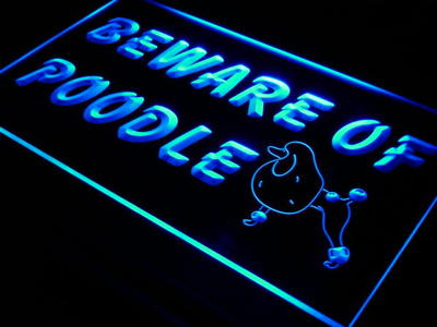 j467-b Beware of Poodle Dog Pet Shop LED Neon Light Sign Wholesale Dropshipping(China (Mainland))