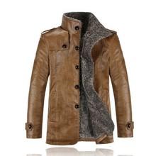 Winner Jacket and Coats Thickening Wool Windbreak Waterproof Warm Skin Lamb Fur Trench Coat Leather Jacket Men With Plus Size()