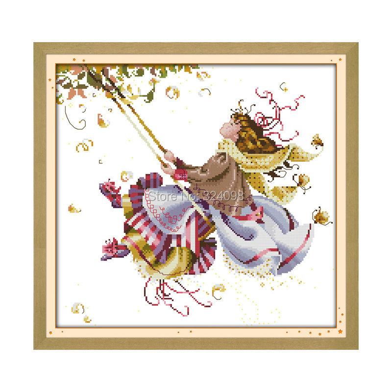 Wholesale Needlework,Stitch,11CT 14CT Cross Stitch,Sets For Embroidery Kits,Swing Counted Cross-Stitching(China (Mainland))