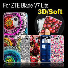 ZTE Blade V7 lite Case V 7 Cover Soft TPU Silicone Cartoon 5.0 Phone - 3C Lemon Tree store