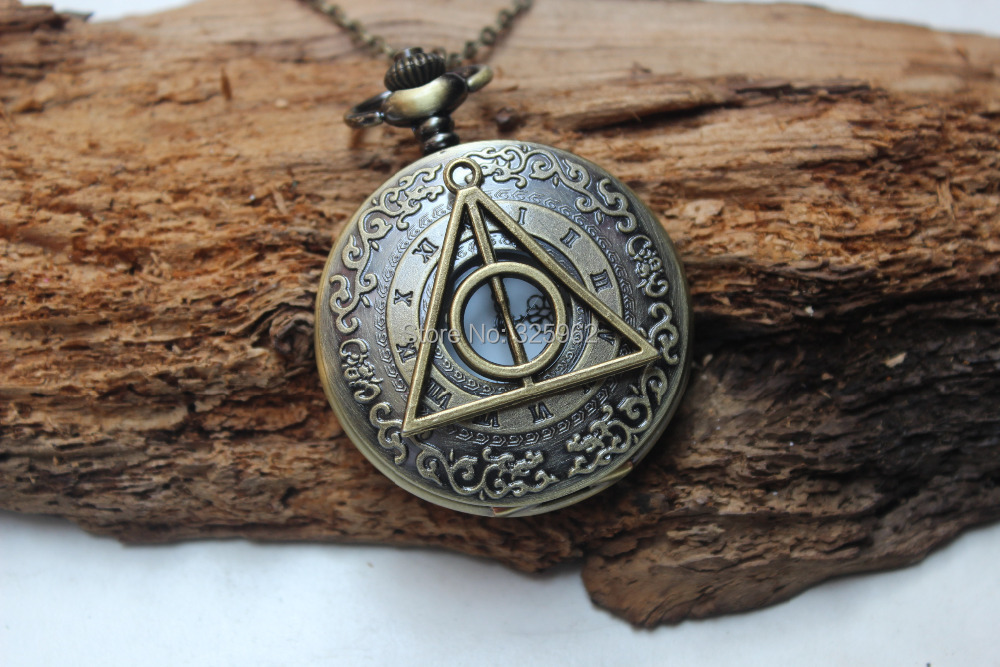 Deathly Hallows the harry potter Pocket Watch Necklace ...