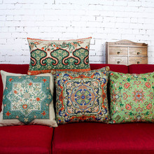 Chinese style cotton pillow cushions