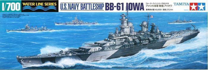 TAMIYA MODEL Scale 1/700 American warships 31616 U.S. Battleship Iowa (BB-61)(China (Mainland))