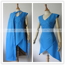 Song of Ice and Fire A Game of Thrones Daenerys Targaryen Blue dress Cosplay Costume