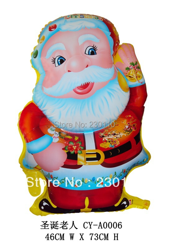 ! 5 Christmas balloons, Santa Claus , festive holiday decorations party 46X73CM - Happy Balloon Family store