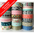 11Designs NEW!! Ballet /Girls /Plane /Butterfly Pattern Japanese Washi Decorative Adhesive DIY Masking Paper Tape Sticker Label