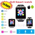 2016 SmartWatch Q18 Wristwatch with Touch Screen Camera TF Card Bluetooth Fashion Smart Watch for Android