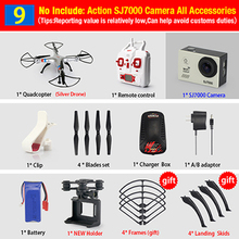 Syma X8 X8C X8W FPV RC Quadcopter Drone with 14MP WIFI Camera 2.4G 6Axis RTF dron RC Helicopter Fit SJ7000 Camera VS SYMA X8G(China (Mainland))