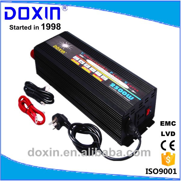 China Guangzhou DOXIN Factory Intelligent High Capacity 2000W 12V /24V 110V /220V DC To AC UPS Inverter With Battery Charger(China (Mainland))