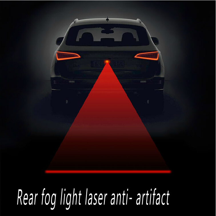 Free shipping Newest Anti Collision Rear end Car Laser Tail Fog Light Auto Brake Parking Lamp