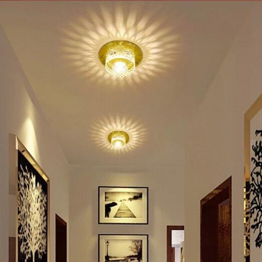 3W led crystal lamps lustres de cristais acrylic lampshade led light fitting AC85-265V modern led ceiling lights abajur(China (Mainland))