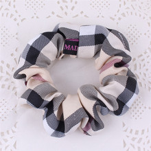 Buy Plaid style Women Elastic Cloth Hair Bands Scrunchie Hair Tie Ring Rope Girls' Ponytail Holder Casual Headwear Accessories for $1.49 in AliExpress store