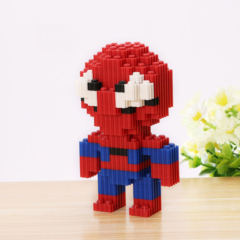 2016 New Anime Marvel Building Blocks Q Version Spider Man Block Kids Toys For Gift Mini Toys With Toys Hot Sale jm005(China (Mainland))