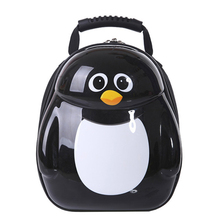2015 New Animal designs kindergarten Eggshell school bag primary school pupil's school bag  HOT Leather children backpack(China (Mainland))