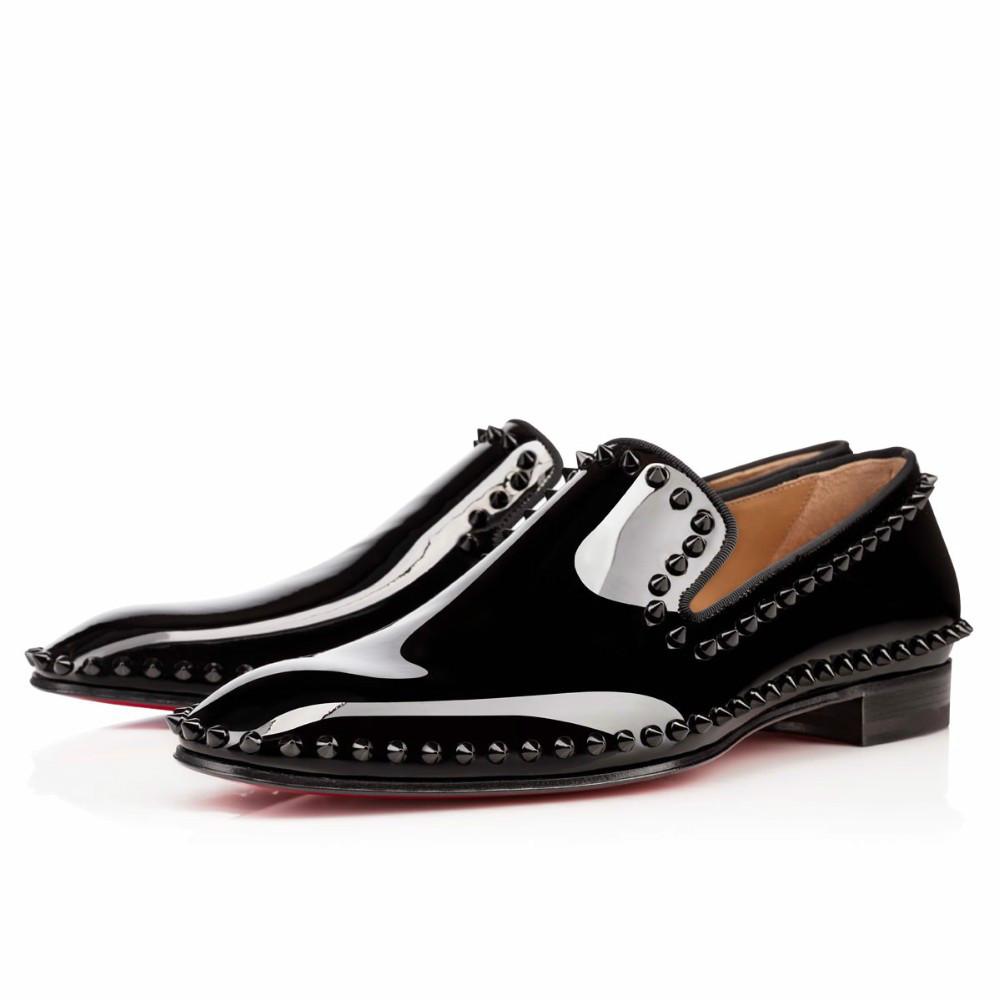 2015 brand fashion loubuten shoes newst slipon rivets