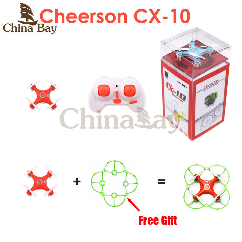 Cheerson CX-10 CX10 CX 10 2.4G Remote Control Toys 4CH 6Axis RC Quadcopter Mini rc helicopters pocket Aircraft RTF Drone(China (Mainland))