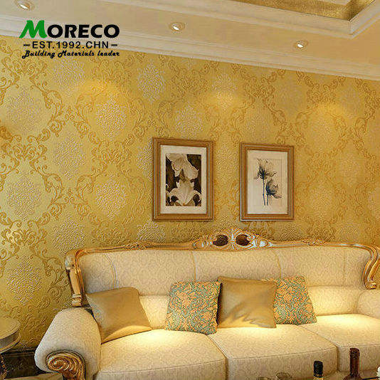 Continental Damascus Pattern Damask Wall paper 3D non-woven wallpaper Bedroom Living Room Walls papel de parede - QingMo Home Decoration Co.,Ltd store