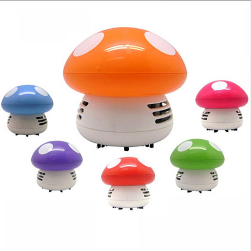 New Functional Desktop Vacuum cleaner cartoon mushroom Mini Dust Collector Household Computer keyboard Clean Brushes(China (Mainland))