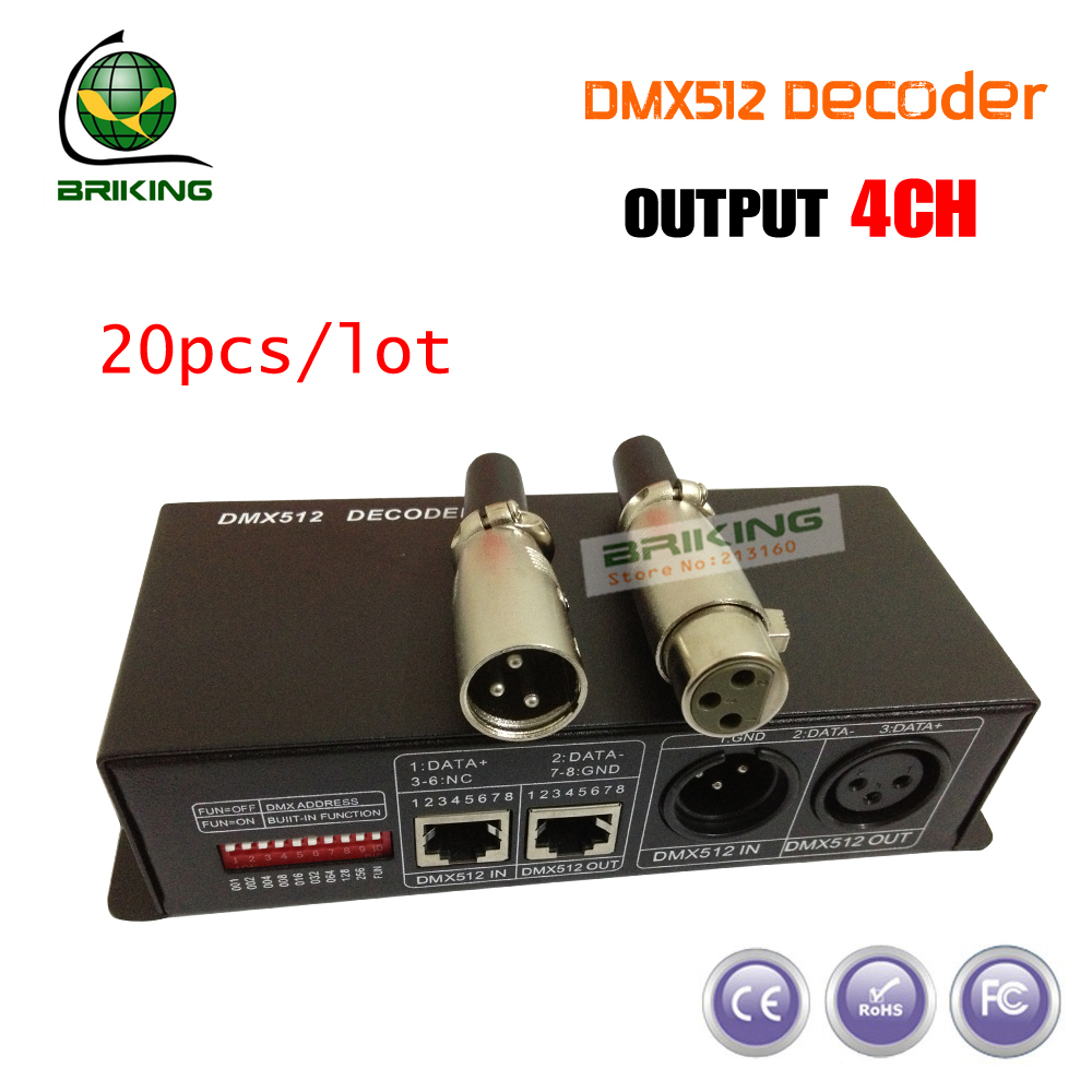 DHL Free Shipping 4ch dmx to pwm decoder, 4A decoder, dmx to pwm signal, dc dmx controlled dimmer(China (Mainland))