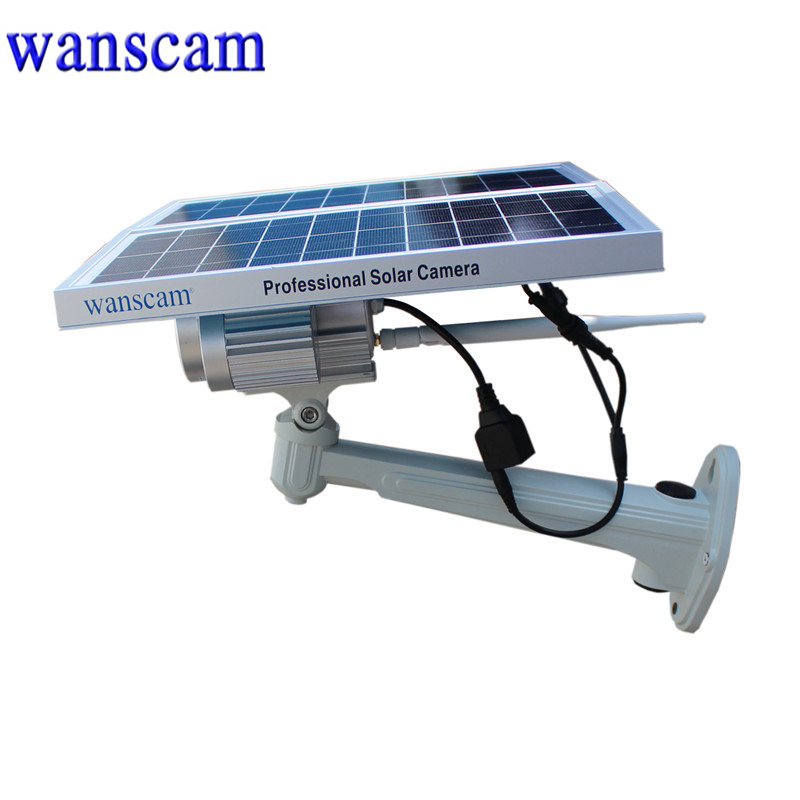 Ultra Low Light Stars Wanscam HW0029-3 Built-in Battery P2P Function Wireless Outdoor 100m Night Vision HD Solar Power IP Camera(China (Mainland))