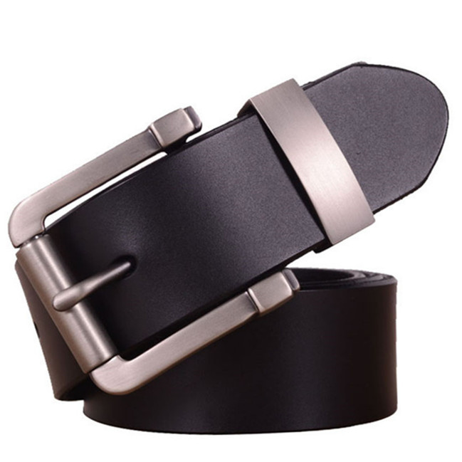 Genuine Leather Belts For Men, % Top Grain Fashion Mens Belt, Antique Buckle.