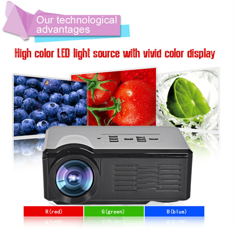 In Stock Korean ! 2015 New UC40 Projector Mini Pico portable proyector Projector AV A/V USB &amp; SD HDMI Projector Wholesale<br><br>Aliexpress