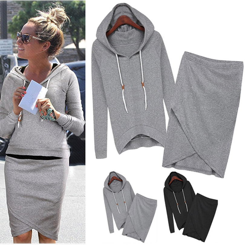2015 New Fashion Women Sport Suits Leisure Sweatshirts Spring Autumn Casual Tracksuit Top And Skirt 2 PieceОдежда и ак�е��уары<br><br><br>Aliexpress