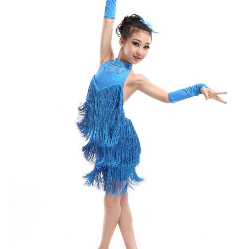 ... de baile latino Salsa Dancewear traje de la danza(China (Mainland