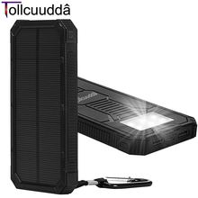 Tollcuudda Portable Phone Charger Battery Cargador Solar Power Pover Bank For IPhone6 Xiaomi External Powerbank Mobile Power Box(China (Mainland))