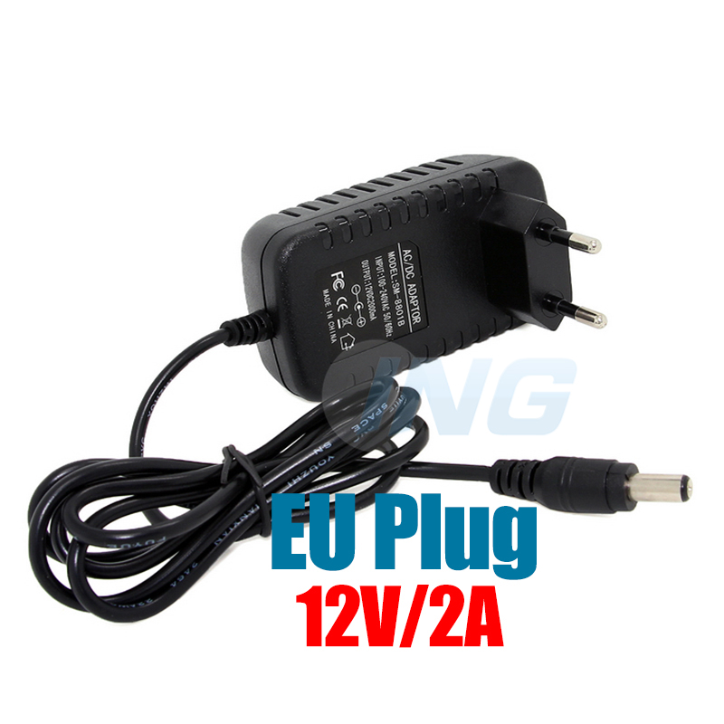 EU Type Adapter DC 12V 2A CCTV Security Camera Power Supply EU Plug Power Adapter(China (Mainland))