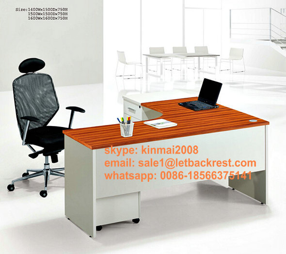 Modern office furniture office table L shaped office desk wooden computer table(China (Mainland))