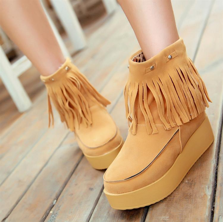 2012 tassel boots platform comfortable winter cotton-padded shoes women's - Online Store 808308 store