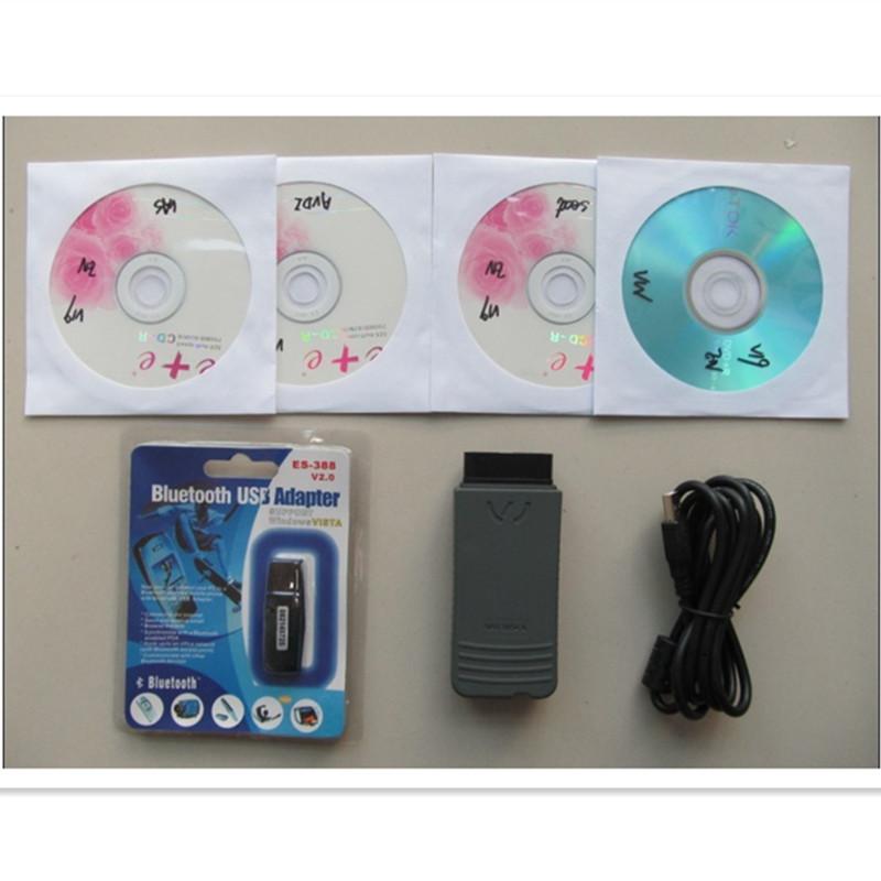 Высокое качество VAS 5054 одис 2.2.4 + bluetooth полный чип VAS5054A поддержка UDS для AUDI / VW / SKODA / бесплатная доставка
