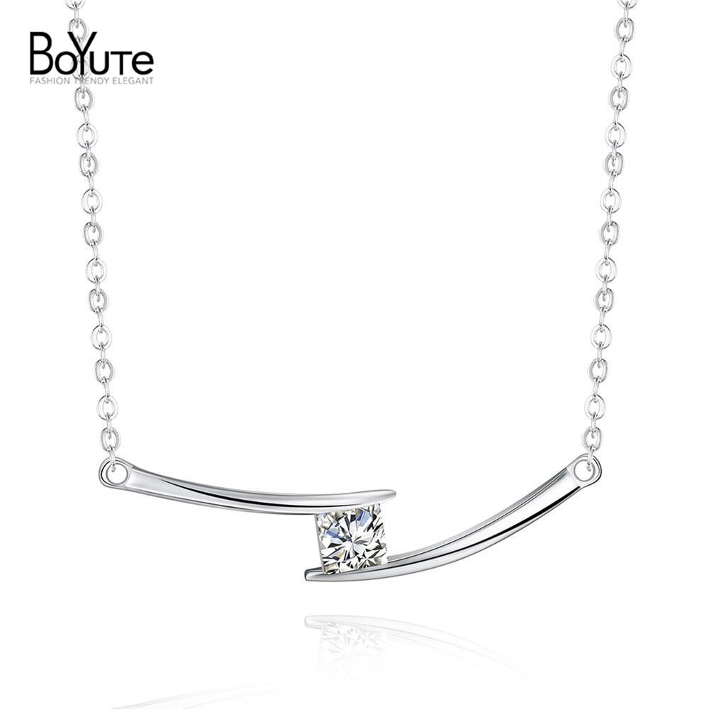 Wholesale Silver Necklace Pendant CZ Diamond Fashion Popular Silver Chain Necklace Jewelry for Women(China (Mainland))