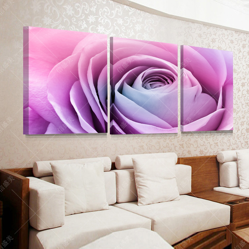 3 piece abstract Rose picture canvas oil painting wall art cuadros decoracion HD Print pictures for living room pintura no Frame(China (Mainland))