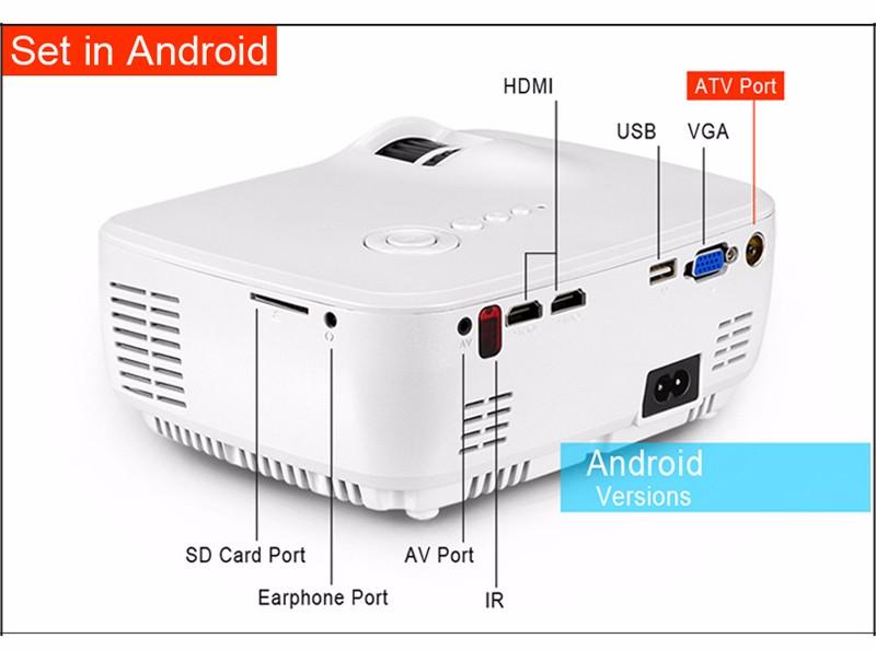 ถูก AUNโปรเจคเตอร์AM01ชุด(อุปกรณ์เสริมคลาสสิก/DVB-T/ATSC/Android),นำโปรเจ็กเตอร์นำทีวีจูนเนอร์ฟรีสายHDMI 3Dแว่นตา